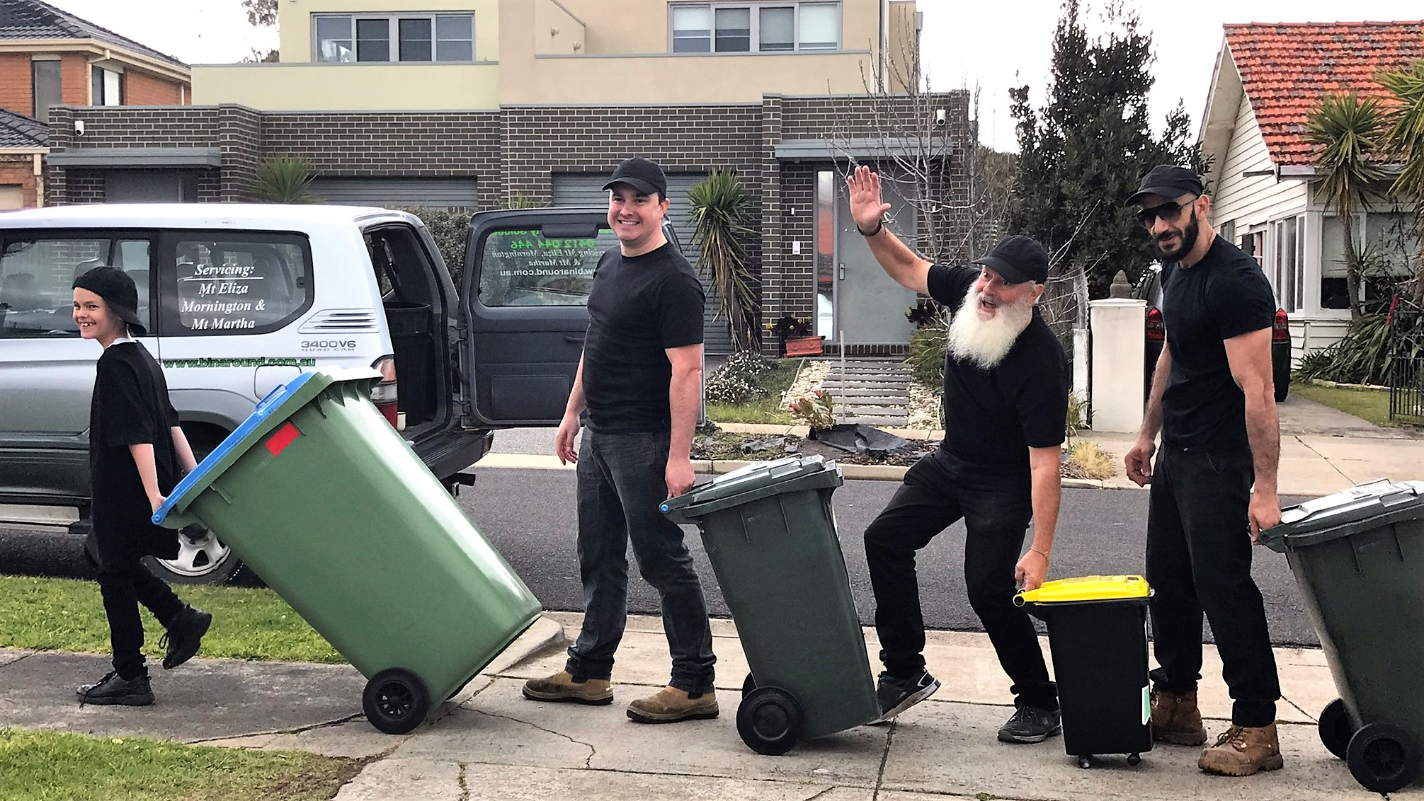 Rubbish removal and bin placement. Bin and rental property services Mornington